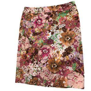 J. Crew Floral Print Pencil Skirt Size 12
